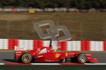 © 2012 Octane Photographic Ltd. Barcelona Winter Test 1 Day 3 - Thursday 23rd February 2012. Ferrari F2012 - Felipe Massa. Digital Ref : 0228lw7d3400