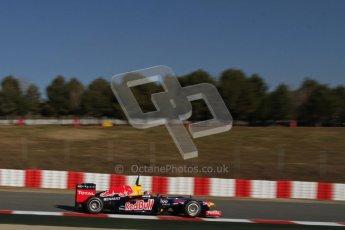 © 2012 Octane Photographic Ltd. Barcelona Winter Test 1 Day 3 - Thursday 23rd February 2012. Red Bull RB8 - Mark Webber. Digital Ref : 0228lw7d3419