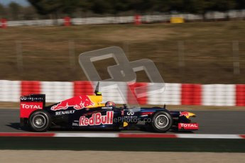 © 2012 Octane Photographic Ltd. Barcelona Winter Test 1 Day 3 - Thursday 23rd February 2012. Red Bull RB8 - Mark Webber. Digital Ref : 0228lw7d3457