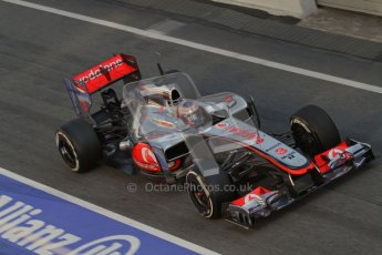 © 2012 Octane Photographic Ltd. Barcelona Winter Test 1 Day 3 - Thursday 23rd February 2012. McLaren MP4/27 - Jenson Button. Digital Ref : 0228lw7d3847
