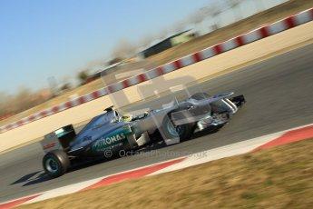 © 2012 Octane Photographic Ltd. Barcelona Winter Test 1 Day 4 - Friday 24th February 2012. Mercedes W03 - Nico Rosberg. Digital Ref :  0229cb1d0292