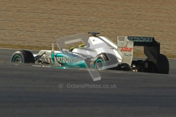 © 2012 Octane Photographic Ltd. Barcelona Winter Test 1 Day 4 - Friday 24th February 2012. Mercedes W03 - Nico Rosberg. Digital Ref : 0229cb7d6772