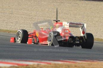 © 2012 Octane Photographic Ltd. Barcelona Winter Test 1 Day 4 - Friday 24th February 2012. Ferrari F2012 - Felipe Massa. Digital Ref : 0229cb7d6779