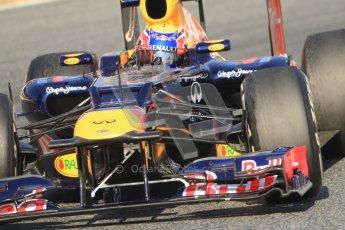 © 2012 Octane Photographic Ltd. Barcelona Winter Test 1 Day 4 - Friday 24th February 2012. Red Bull RB8 - Mark Webber. Digital Ref : 0229cb7d6871