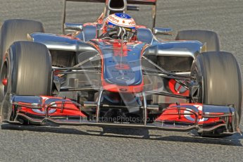 © 2012 Octane Photographic Ltd. Barcelona Winter Test 1 Day 4 - Friday 24th February 2012. McLaren MP4/27 - Jenson Button. Digital Ref : 0229cb7d6923