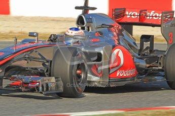 © 2012 Octane Photographic Ltd. Barcelona Winter Test 1 Day 4 - Friday 24th February 2012. McLaren MP4/27 - Jenson Button. Digital Ref : 0229cb7d6939