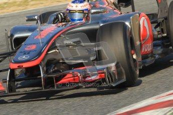 © 2012 Octane Photographic Ltd. Barcelona Winter Test 1 Day 4 - Friday 24th February 2012. McLaren MP4/27 - Jenson Button. Digital Ref : 0229cb7d6966