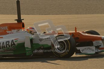 © 2012 Octane Photographic Ltd. Barcelona Winter Test 1 Day 4 - Friday 24th February 2012. Force India VJM05 - Paul di Resta. Digital Ref : 0229lw7d4372
