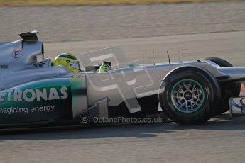 © 2012 Octane Photographic Ltd. Barcelona Winter Test 1 Day 4 - Friday 24th February 2012. Mercedes W03 - Nico Rosberg. Digital Ref : 0229lw7d4519