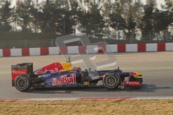 © 2012 Octane Photographic Ltd. Barcelona Winter Test 1 Day 4 - Friday 24th February 2012. Red Bull RB8 - Mark Webber. Digital Ref : 0229lw7d4596
