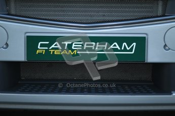 © 2012 Octane Photographic Ltd. Barcelona Winter Test 2 Day 1 - Thursday 1st March 2012. Caterham truck number plate covers. Digital Ref : 0231cb1d1683