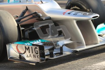 © 2012 Octane Photographic Ltd. Barcelona Winter Test 2 Day 1 - Thursday 1st March 2012. Mercedes W03 - Nico Rosberg. Digital Ref : 0231cb1d1888