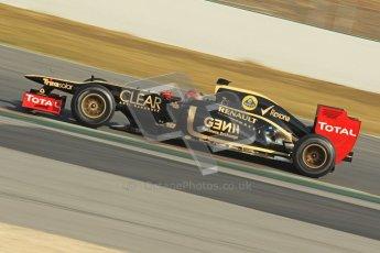 © 2012 Octane Photographic Ltd. Barcelona Winter Test 2 Day 1 - Thursday 24th March 2012. Lotus E20 - Romain Grosjean. Digital Ref : 0231cb1d2024