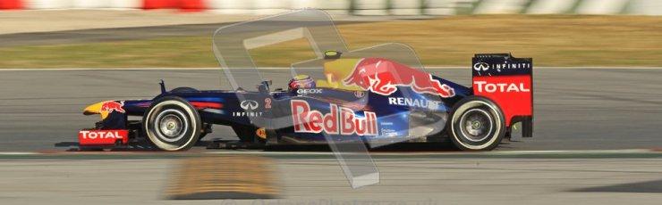 © 2012 Octane Photographic Ltd. Barcelona Winter Test 2 Day 1 - Thursday 1st March 2012. Red Bull RB8 - Mark Webber. Digital Ref : 0231cb1d2056