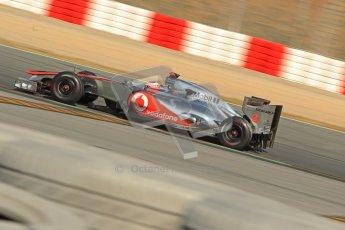 © 2012 Octane Photographic Ltd. Barcelona Winter Test 2 Day 1 - Thursday 1st March 2012. McLaren MP4/27 - Jenson Button. Digital Ref : 0231cb1d2088