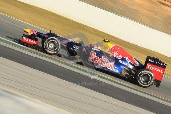 © 2012 Octane Photographic Ltd. Barcelona Winter Test 2 Day 1 - Thursday 1st March 2012. Red Bull RB8 - Mark Webber. Digital Ref : 0231cb1d2092