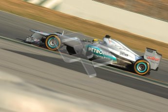 © 2012 Octane Photographic Ltd. Barcelona Winter Test 2 Day 1 - Thursday 1st March 2012. Mercedes W03 - Nico Rosberg. Digital Ref : 0231cb1d2114