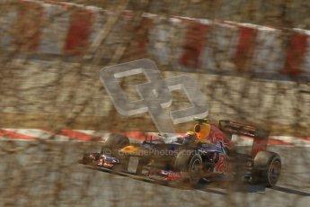 © 2012 Octane Photographic Ltd. Barcelona Winter Test 2 Day 1 - Thursday 1st March 2012. Red Bull RB8 - Mark Webber. Digital Ref : 0231cb1d2219