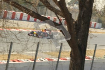 © 2012 Octane Photographic Ltd. Barcelona Winter Test 2 Day 1 - Thursday 24th March 2012. Red Bull RB8 - Mark Webber. Digital Ref : 0231cb1d2222