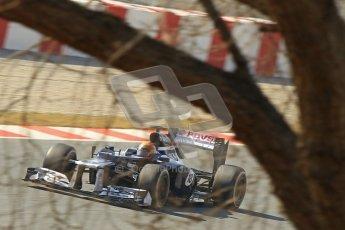 © 2012 Octane Photographic Ltd. Barcelona Winter Test 2 Day 1 - Thursday 24th March 2012. Williams FW34 - Pastor Maldonado. Digital Ref : 0231cb1d2225