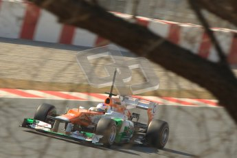 © 2012 Octane Photographic Ltd. Barcelona Winter Test 2 Day 1 - Thursday 24th March 2012. Force India VJM05 - Paul di Resta. Digital Ref : 0231cb1d2237
