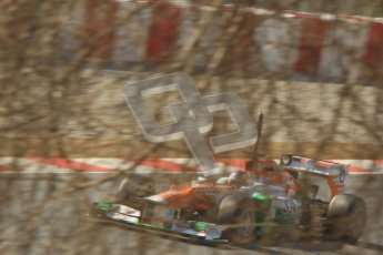 © 2012 Octane Photographic Ltd. Barcelona Winter Test 2 Day 1 - Thursday 24th March 2012. Force India VJM05 - Paul di Resta. Digital Ref : 0231cb1d2239