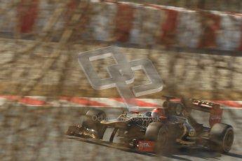 © 2012 Octane Photographic Ltd. Barcelona Winter Test 2 Day 1 - Thursday 24th March 2012. Lotus E20 - Romain Grosjean. Digital Ref : 0231cb1d2242