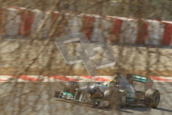 © 2012 Octane Photographic Ltd. Barcelona Winter Test 2 Day 1 - Thursday 1st March 2012. Mercedes W03 - Nico Rosberg. Digital Ref : 0231cb1d2246