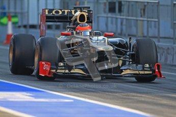 © 2012 Octane Photographic Ltd. Barcelona Winter Test 2 Day 1 - Thursday 1st March 2012. Lotus E20 - Romain Grosjean. Digital Ref : 0231cb7d7666