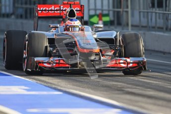 © 2012 Octane Photographic Ltd. Barcelona Winter Test 2 Day 1 - Thursday 1st March 2012. McLaren MP4/27 - Jenson Button. Digital Ref : 0231cb7d7863