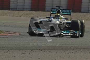 © 2012 Octane Photographic Ltd. Barcelona Winter Test 2 Day 1 - Thursday 1st March 2012. Mercedes W03 - Nico Rosberg. Digital Ref : 0231cb7d7973