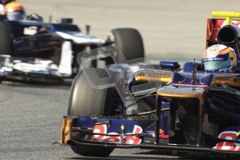 © 2012 Octane Photographic Ltd. Barcelona Winter Test 2 Day 1 - Thursday 24th March 2012. Toro Rosso STR7 - Jean-Eric Vergne. Digital Ref :0231cb7d8107