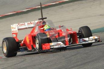 © 2012 Octane Photographic Ltd. Barcelona Winter Test 2 Day 1 - Thursday 1st March 2012. Ferrari F2012 - Felipe Massa. Digital Ref : 0231cb7d8119