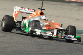 © 2012 Octane Photographic Ltd. Barcelona Winter Test 2 Day 1 - Thursday 24th March 2012. Force India VJM05 - Paul di Resta. Digital Ref : 0231cb7d8205
