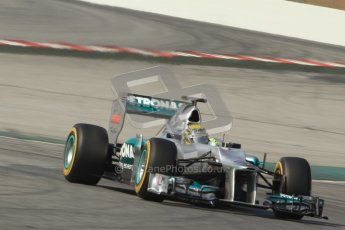 © 2012 Octane Photographic Ltd. Barcelona Winter Test 2 Day 1 - Thursday 1st March 2012. Mercedes W03 - Nico Rosberg. Digital Ref : 0231cb7d8269