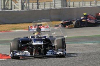 © 2012 Octane Photographic Ltd. Barcelona Winter Test 2 Day 1 - Thursday 24th March 2012. Williams FW34 - Pastor Maldonado. Digital Ref : 0231lw7d0008