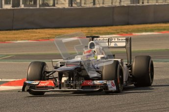 © 2012 Octane Photographic Ltd. Barcelona Winter Test 2 Day 1 - Thursday 24th March 2012. Sauber C31 - Sergio Perez. Digital Ref : 0231lw7d0090