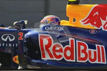 © 2012 Octane Photographic Ltd. Barcelona Winter Test 2 Day 1 - Thursday 1st March 2012. Red Bull RB8 - Mark Webber. Digital Ref : 0231lw7d0330