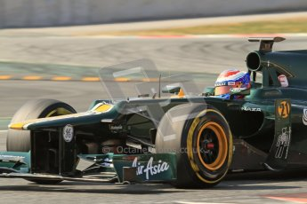 © 2012 Octane Photographic Ltd. Barcelona Winter Test 2 Day 1 - Thursday 1st March 2012. Caterham CT01 - Vitaly Petrov. Digital Ref : 0231lw7d0361