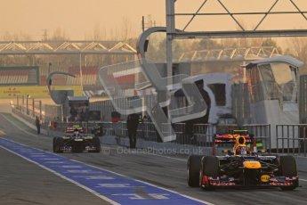 © 2012 Octane Photographic Ltd. Barcelona Winter Test 2 Day 1 - Thursday 1st March 2012. Red Bull RB8 - Mark Webber. Digital Ref : 0231lw7d7435