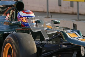 © 2012 Octane Photographic Ltd. Barcelona Winter Test 2 Day 1 - Thursday 1st March 2012. Caterham CT01 - Vitaly Petrov. Digital Ref : 0231lw7d7657