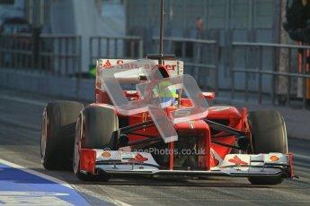 © 2012 Octane Photographic Ltd. Barcelona Winter Test 2 Day 1 - Thursday 1st March 2012. Ferrari F2012 - Felipe Massa. Digital Ref : 0231lw7d8020