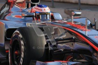 © 2012 Octane Photographic Ltd. Barcelona Winter Test 2 Day 1 - Thursday 1st March 2012. McLaren MP4/27 - Jenson Button. Digital Ref : 0231lw7d8417