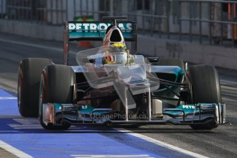 © 2012 Octane Photographic Ltd. Barcelona Winter Test 2 Day 1 - Thursday 1st March 2012. Mercedes W03 - Nico Rosberg. Digital Ref : 0231lw7d8595