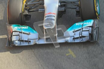 © 2012 Octane Photographic Ltd. Barcelona Winter Test 2 Day 1 - Thursday 1st March 2012. Mercedes W03 - Nico Rosberg. Digital Ref : 0231lw7d8992