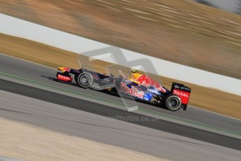 © 2012 Octane Photographic Ltd. Barcelona Winter Test 2 Day 1 - Thursday 1st March 2012. Red Bull RB8 - Mark Webber. Digital Ref : 0231lw7d9179