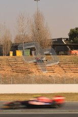 © 2012 Octane Photographic Ltd. Barcelona Winter Test 2 Day 1 - Thursday 24th March 2012. Toro Rosso STR7 - Jean-Eric Vergne being watched by fans. Digital Ref : 0231lw7d9213