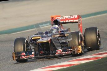 © 2012 Octane Photographic Ltd. Barcelona Winter Test 2 Day 3 - Saturday 3rd March 2012. Toro Rosso STR7 - Daniel Ricciardo. Digital Ref : 0233cb7d9064