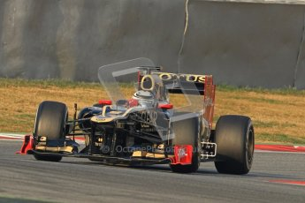 © 2012 Octane Photographic Ltd. Barcelona Winter Test 2 Day 3 - Saturday 3rd March 2012. Lotus E20 - Kimi Raikkonen. Digital Ref : 0233cb7d9175