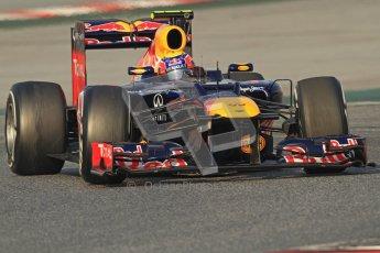 © 2012 Octane Photographic Ltd. Barcelona Winter Test 2 Day 3 - Saturday 3rd March 2012. Red Bull RB8 - Mark Webber. Digital Ref : 0233cb7d9367